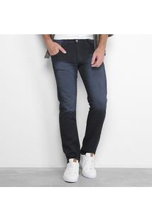 Calça Jeans Skinny Preston Bigode Masculina - Masculino-Azul Escuro