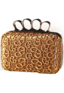 Bolsa Poquet Clutch Dourada
