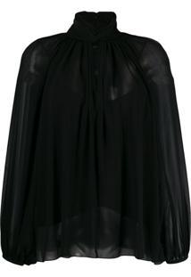 Givenchy Blusa Com Pregas - Preto