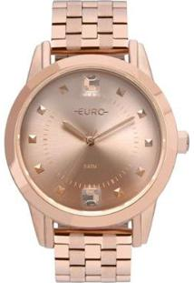 Relógio Euro Spike Illusion Feminino - Feminino-Bronze