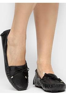 Mocassim Couro Shoestock Drive Lizard Feminino - Feminino