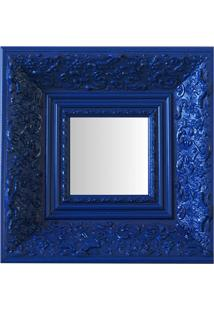 Espelho Moldura Rococó Fundo 16218 Azul Art Shop