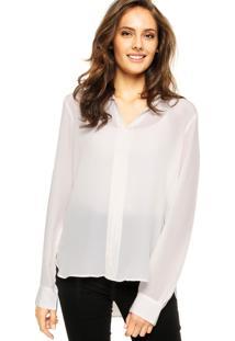 Camisa Maria Filó Prega Off-White