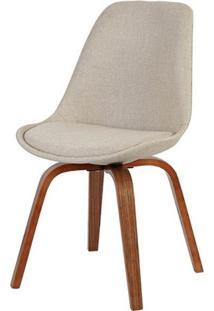 Cadeira Lis Eames Pp Revestida Em Tecido Bege