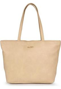 Bolsa Shopping Bag Via Uno Nude Nude