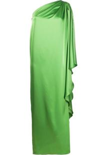 Gianluca Capannolo One-Shoulder Satin Gown - Verde