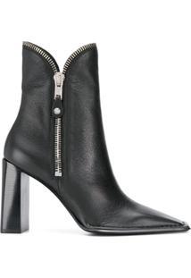 Alexander Wang Zip Detail Ankle Boots - Preto