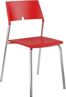 Cadeira Carraro 1711 Aço 4 Unidades Vermelho