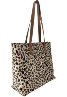 Bolsa Couro Topgrife Shopper Sacola Feminina - Feminino-Onça