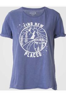 Camiseta Dzarm Estampada Azul