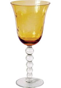 Conjunto De Taças Para Agua Em Vidro 6 Peças Ambar