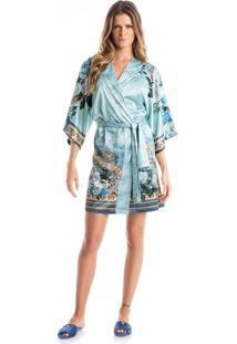 Robe Lotus Azul Scuba/M