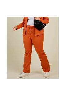 Calça Plus Size Feminina Amarração