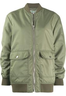 Kenzo Zipped Bomber Jacket - Verde