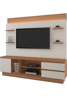 "Estante Home New Buran Para Tv Até 60"" Naturale/Off White"