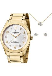 Relógio Champion Cn29230D Feminino - Feminino-Dourado