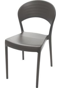 Cadeira Sissi Com Encosto Fechado Marrom 92046109 Tramontina