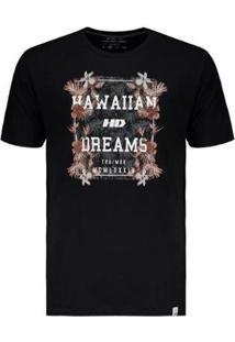 Camiseta Hd Night Aloha - Masculino-Preto