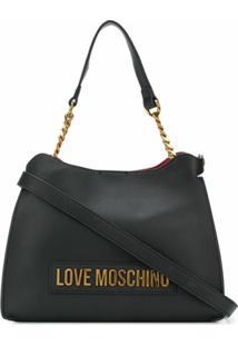 Love Moschino Bolsa Tote Com Logo De Letras - Preto