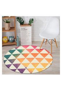 Tapete Redondo Wevans Triângulos Colors 94Cm