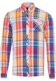 Camisa Masculina Madras - Amarelo