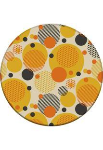 Tapete Love Decor Redondo Wevans Multi Bolas Coloridas Amarelo 84Cm