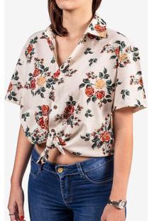 Camisa De Linho Floral 800072