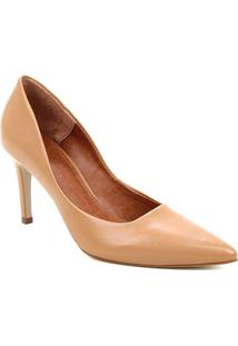 Scarpin Couro Shoestock Salto Alto Mestiço Graciela - Feminino