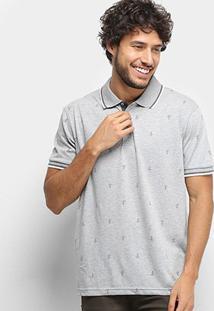 Camisa Polo Broken Rules Masculina - Masculino-Cinza Claro