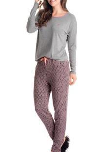 Pijama Daniela Tombini Joana Feminino - Feminino-Rosa