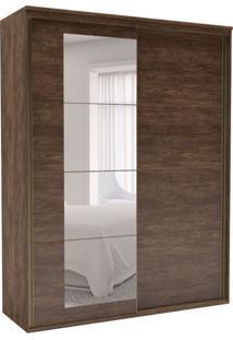 Guarda-Roupa Solteiro Eleganza Com Espelho 2 Pt 3 Gv Marrom