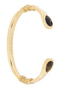 Gas Bijoux Bracelete Com Ônix - Dourado