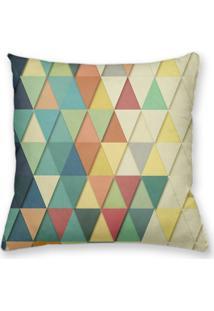 Capa De Almofada Decorativa Own Geométrica Triângulos Degradê De Cores 45X45 - Somente Capa