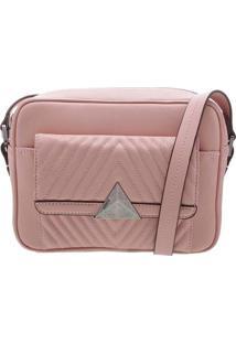 Bolsa Transversal Com Textura - Rosa Claroschutz