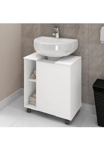 Armário Para Pia De Banheiro Pequin Branco - Bechara Móveis