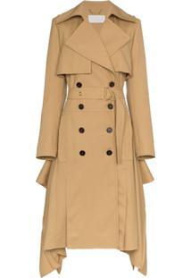 Chloé Trench Coat Assimétrico - Marrom