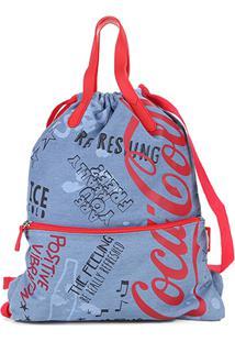 Bolsa Coca-Cola Saco Doodles Feminina - Feminino