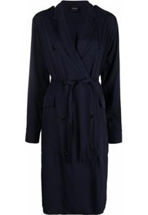 Aspesi Vestido De Viscose - Azul
