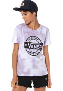 Camiseta Vans Mescla Logo Lilás