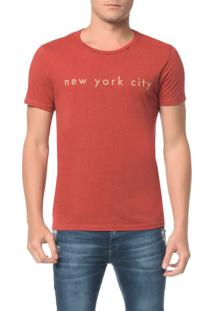 Camiseta Slim Estampa New York City - M
