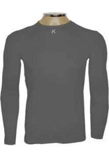 Camiseta Manga Longa Kanxa Térmica / Segunda Pele Cinza