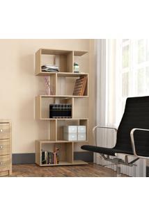 Armário Para Livros Com 5 Nichos Bliv - Castanho - Multistock