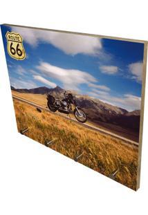Porta Chaves Prolab Gift Route 66 Multicolorido Azul