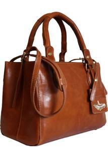 Bolsa Line Store Leather Clássica Couro Whisky Rústico.
