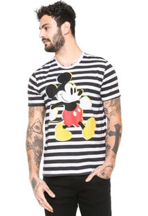 Camiseta Cativa Disney Mickey Branca/Preta