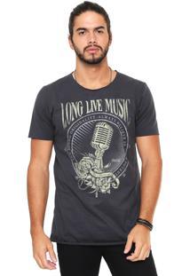 Camiseta Coca-Cola Jeans Long Live Music Grafite