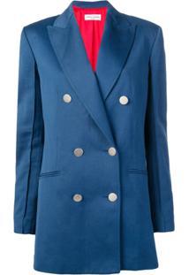 Sonia Rykiel Blazer Com Abotoamento Duplo - Azul