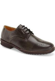 Sapato Social Derby Sandro Moscoloni New Brow Masculino - Masculino-Marrom Escuro