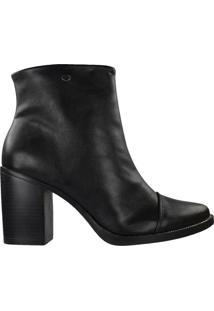 Bota Quiz Ankle Boot Feminina Preto - 34