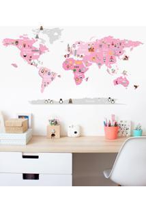 Adesivo Decorativo Stixx Mundo Discovery Girl Rosa - Rosa - Dafiti